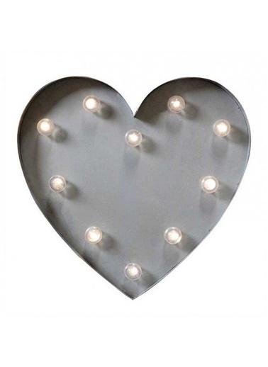 Warm Design LED Kalp Duvar Aydınlatması Siyah